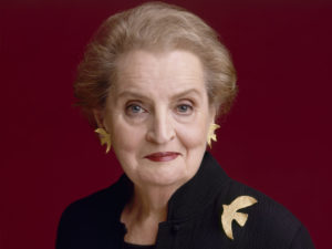 CHARLOTTE OBSERVER – Read My Pins – Madeleine Albright at the Mint.