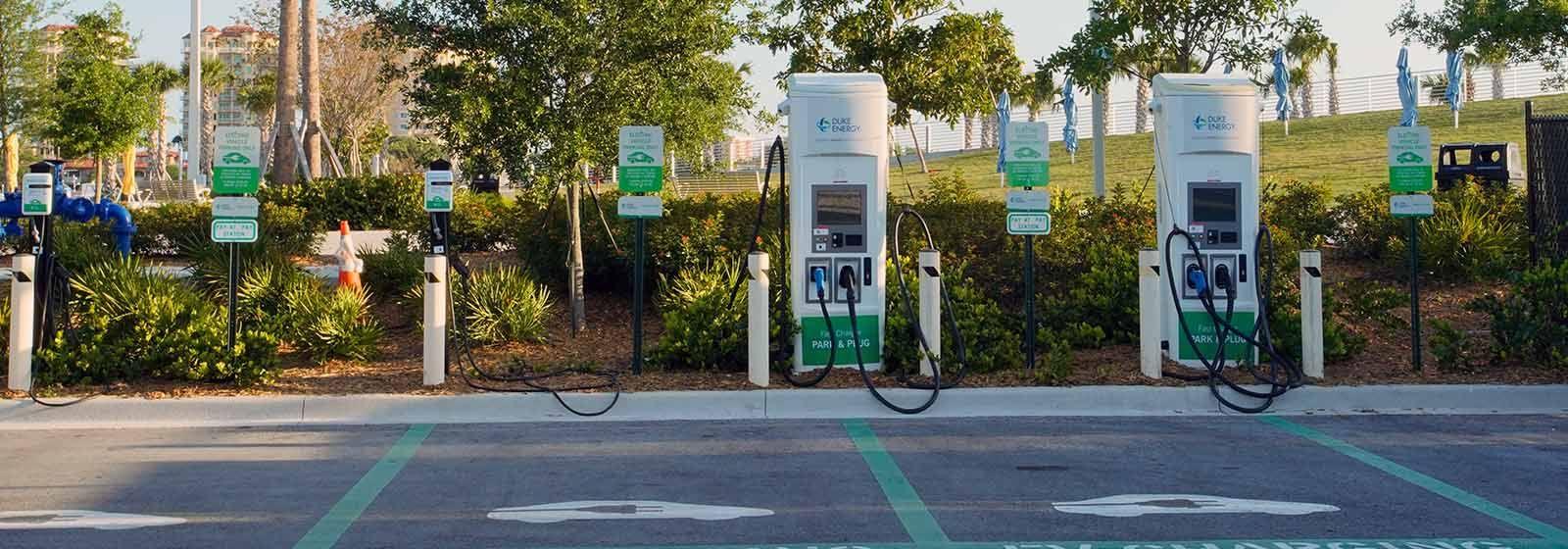 DUKE ILLUMINATION – Electric vehicle charging stations are growing nationwide
